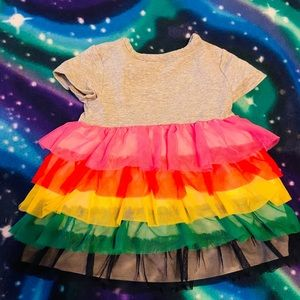 Colorful Hanna Andersson Girls Rainbow Dress